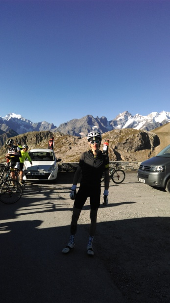 Atop o the Galibier - not the best picture of the best view!