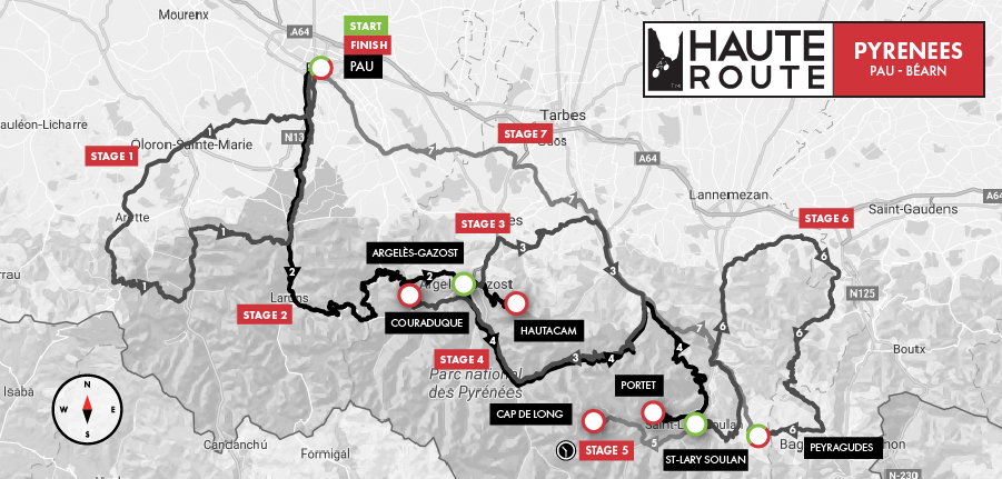 A little look at the haute route pyrenees 2018 parcours for Haute route 2018